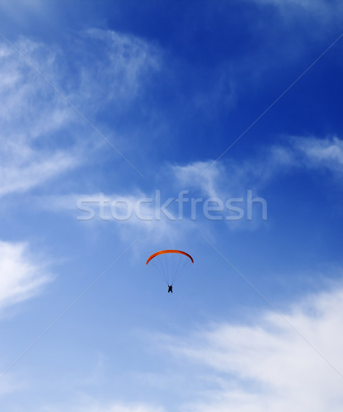 Silhouette of skydiver at sky Stock photo © BSANI