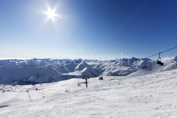 空 太陽 コーカサス 山 グルジア ストックフォト © BSANI