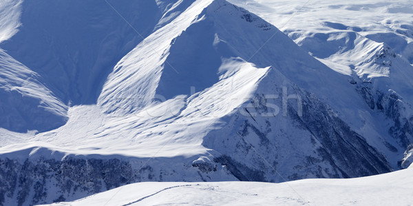 Snow off-piste slope in high mountains Stock photo © BSANI