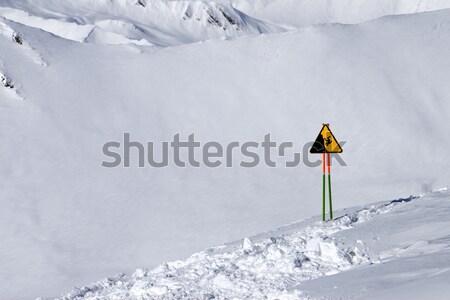 Sípálya este hóesés Kaukázus út erdő Stock fotó © BSANI