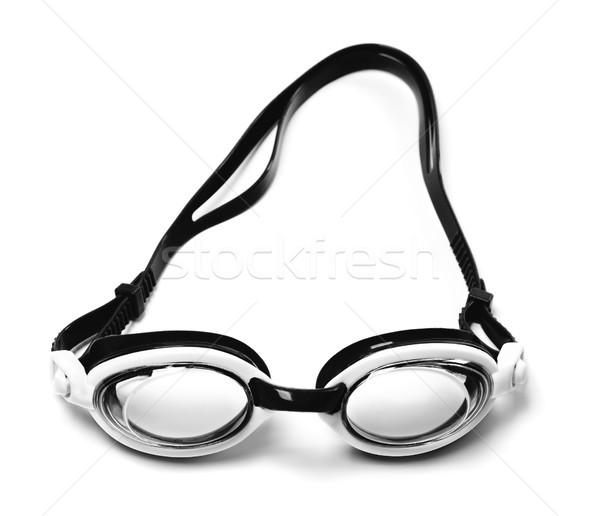 Zwart wit stofbril zwemmen geïsoleerd witte zomer Stockfoto © BSANI
