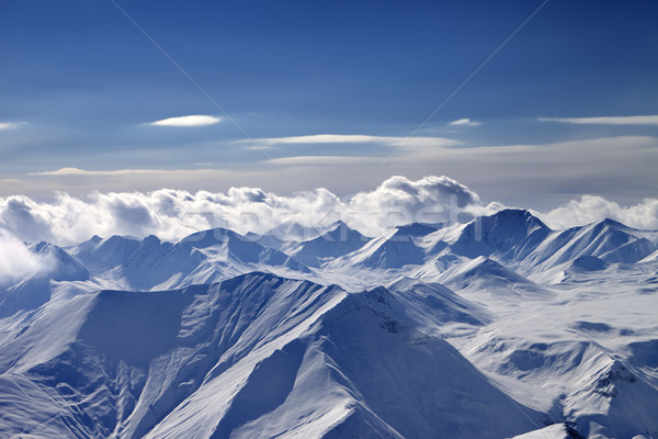 Nuageux montagnes caucase Géorgie vue Photo stock © BSANI