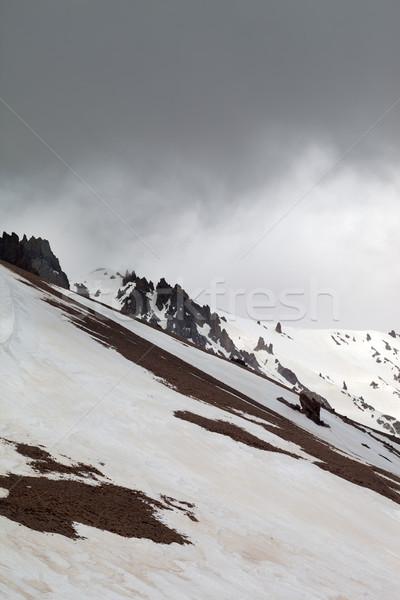 Dağlar kötü hava merkezi gökyüzü manzara dağ Stok fotoğraf © BSANI