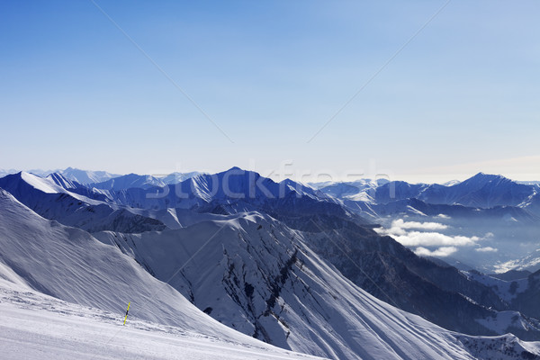 Ski slope at morning Stock photo © BSANI