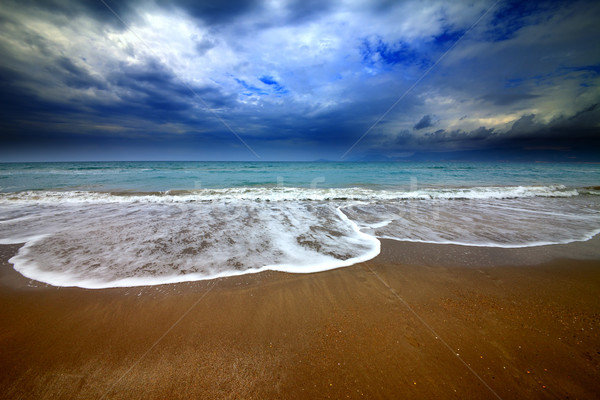 Sea beach and storm clouds Stock photo © BSANI