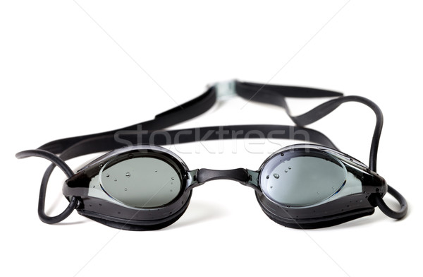 Molhado óculos de proteção natação isolado branco verão Foto stock © BSANI