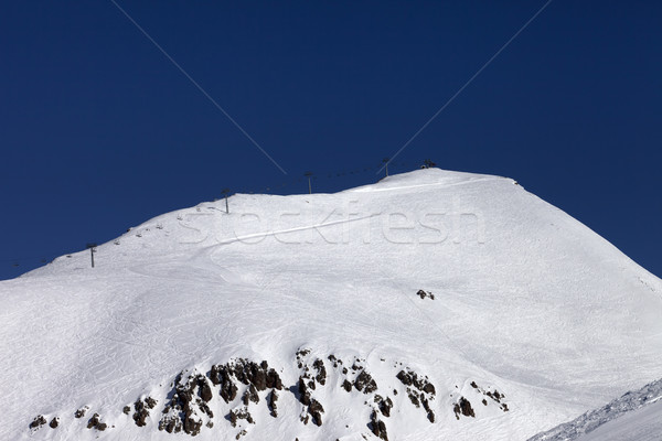 Off-piste slope and ropeway Stock photo © BSANI
