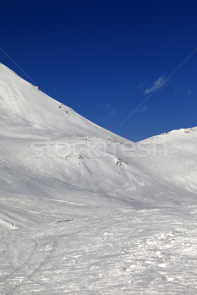 Snowy skiing piste in nice sun day Stock photo © BSANI
