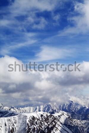 высокий гор ледник Кавказ Грузия Сток-фото © BSANI