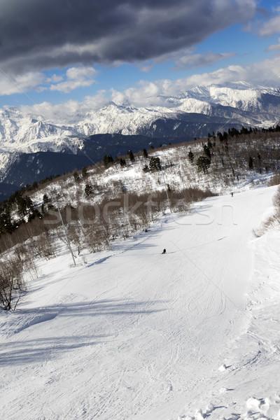 Zon winter dag kaukasus bergen Stockfoto © BSANI