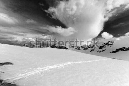 Hó fennsík égbolt felhők Törökország központi Stock fotó © BSANI