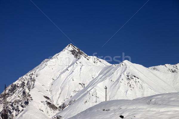 Dağlar mavi açık gökyüzü güzel gün kafkaslar Stok fotoğraf © BSANI