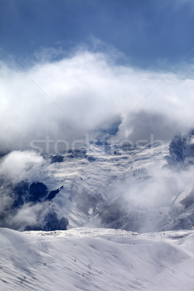 Off-piste slope in fog Stock photo © BSANI