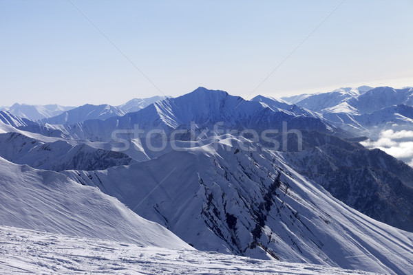 Ski slope in winter morning Stock photo © BSANI