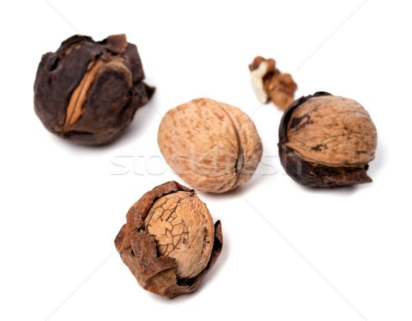 Walnuts isolated on white background Stock photo © BSANI