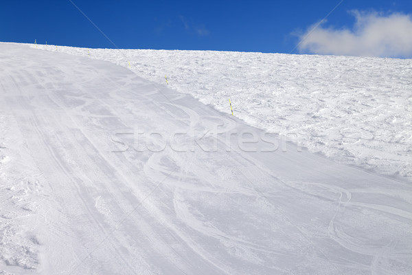 Empty ski slope at sun day Stock photo © BSANI