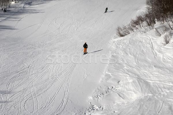 Stok narciarski słońce zimą dzień kaukaz góry Zdjęcia stock © BSANI
