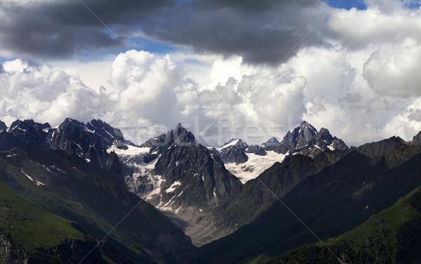 Yaz dağlar bulutlu gökyüzü kafkaslar Georgia Stok fotoğraf © BSANI