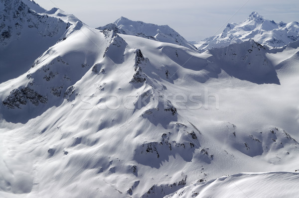Snowy slopes of Caucasus Mountains Stock photo © BSANI