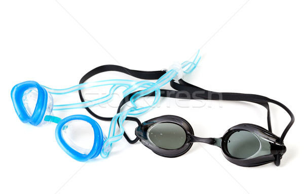Blue and black goggles for swimming Stock photo © BSANI