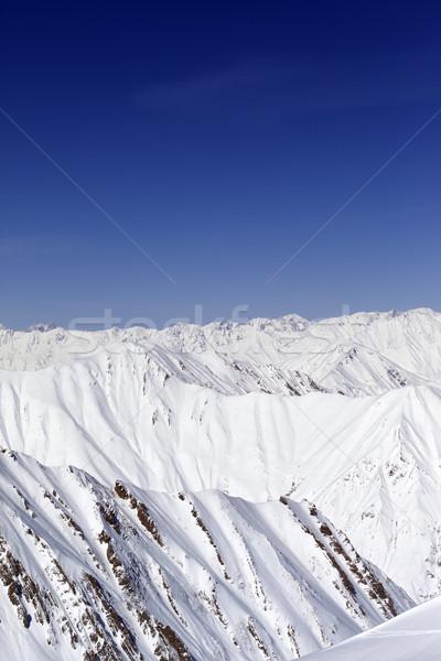 гор Blue Sky Кавказ Грузия лыжных курорта Сток-фото © BSANI
