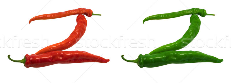 Letter Z composed of green and red chili peppers Stock photo © BSANI
