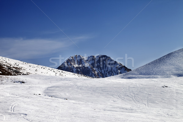 Ski slope at sunny day Stock photo © BSANI