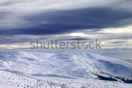 Winter mountains before storm Stock photo © BSANI
