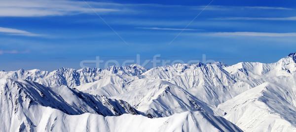 Panorama kış dağlar güzel gün kafkaslar Stok fotoğraf © BSANI