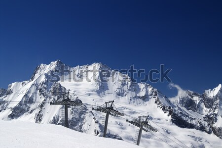 Panorama Caucasus Mountains. Dombay. Stock photo © BSANI