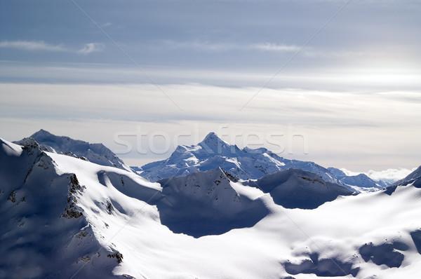 Cáucaso montanas vista cielo paisaje nieve Foto stock © BSANI
