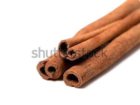 Cinnamon sticks on white background Stock photo © BSANI