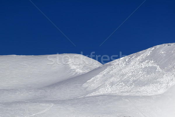 Trace of avalanche on off-piste slope Stock photo © BSANI