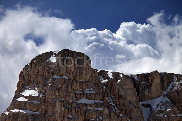 Top of mountain and blue sky with clouds Stock photo © BSANI