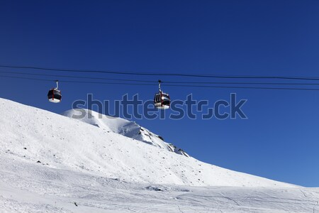 Gondola lift and ski slope Stock photo © BSANI
