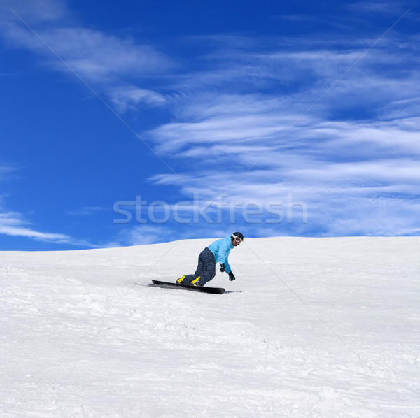 Snowboarder in winter mountains Stock photo © BSANI