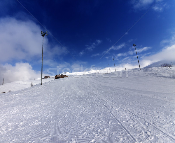 Ski slope in winter mountains Stock photo © BSANI