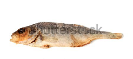 Sun-dried stockfish isolated on white background Stock photo © BSANI