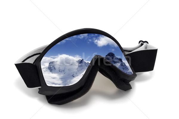 反射 冬 山 孤立した 白 ストックフォト © BSANI