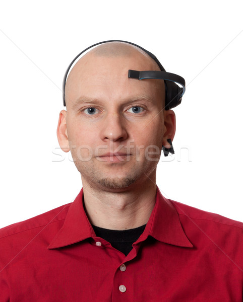 Portrait of young man with EEG (electroencephalography) headset  Stock photo © BSANI
