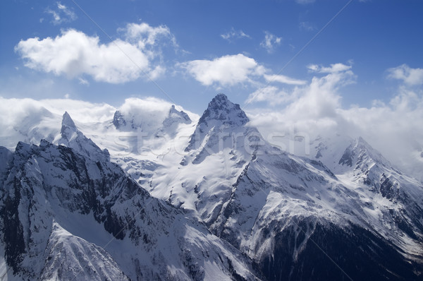 Montanhas cáucaso paisagem gelo inverno azul Foto stock © BSANI