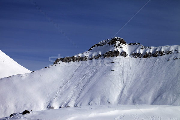 Off-piste slope with traces of avalanches Stock photo © BSANI
