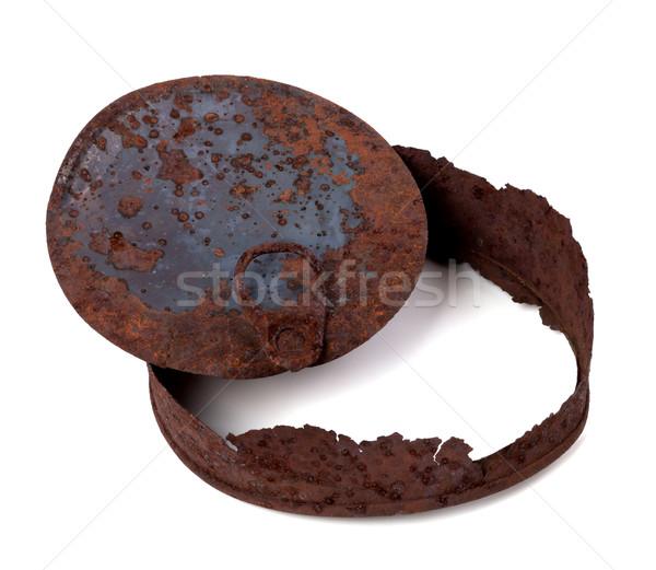 Frame of rusty tin can Stock photo © BSANI