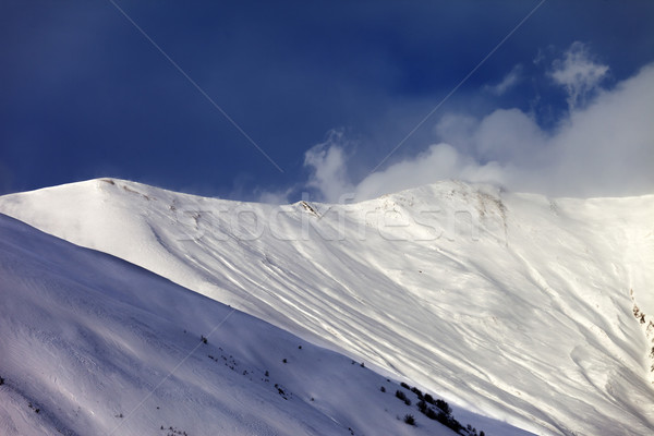 Off-piste slope in sun evening Stock photo © BSANI