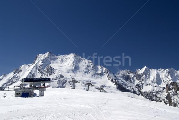 Station of ropeway. Ski resort. Stock photo © BSANI