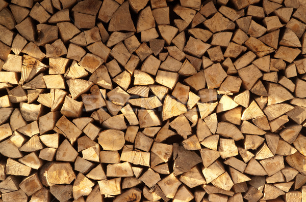 Stock photo: Abstract firewood background