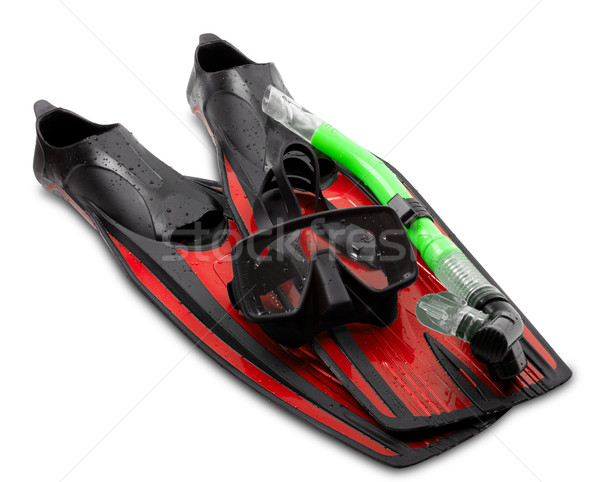Mask, snorkel and flippers Stock photo © BSANI