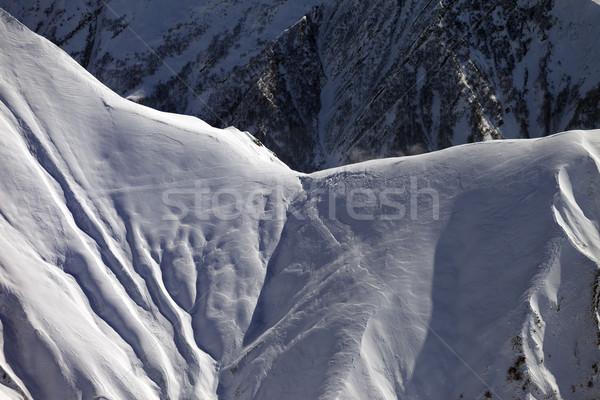 Snowy mountain pass Stock photo © BSANI