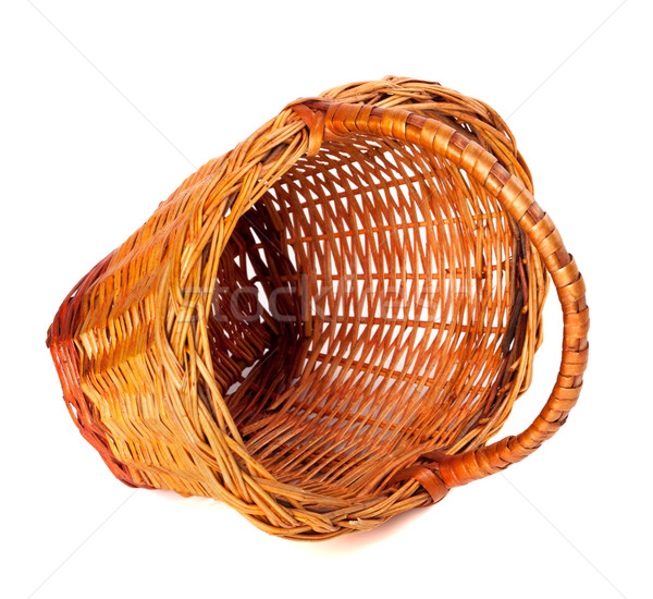 Empty wicker basket on white background.  Stock photo © BSANI