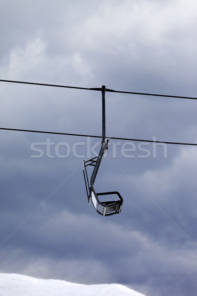 Chair lift at gray windy day Stock photo © BSANI